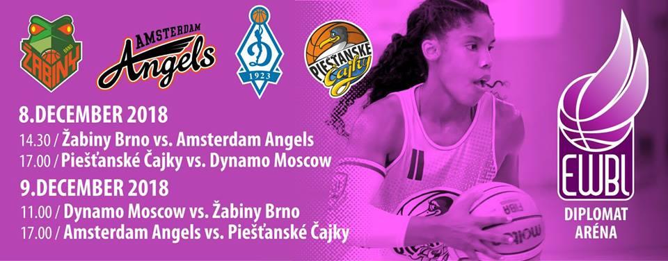 Čajky hostia turnaj EWBL, zahrajú si proti Dynamu Moskva a Amsterdamu Angels