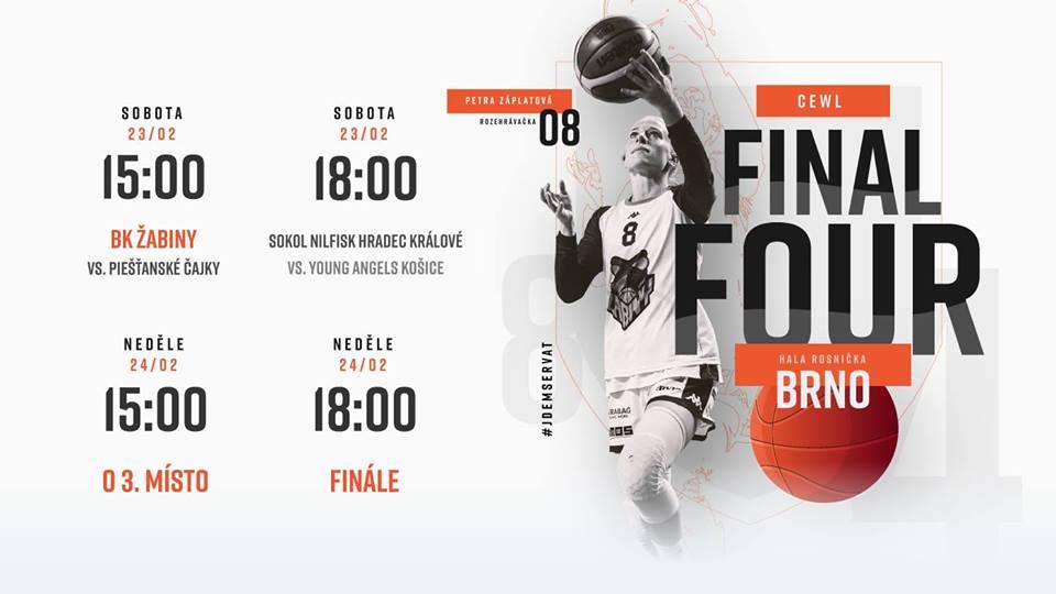 Čajky cez víkend na Final Four Stredoeurópskej ligy CEWL v Brne