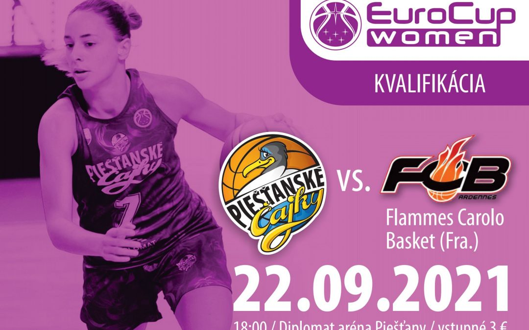 Kvalifkačný zápas Eurocupu proti francúzskemu Flammes Carolo Basket aj za prítomnosti fanúšikov!